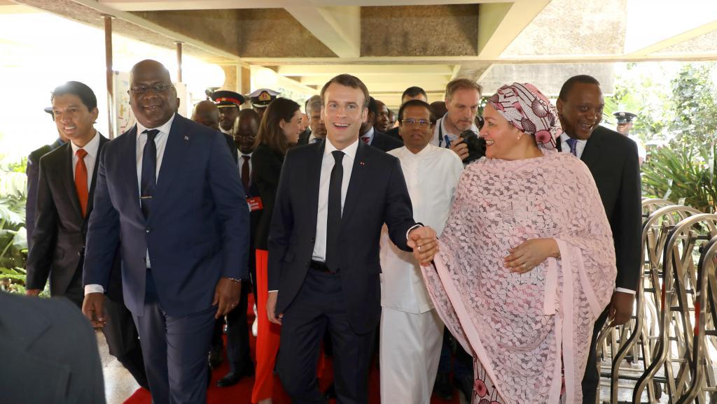 Kenya: rencontre entre le président français et son homologue de RDC