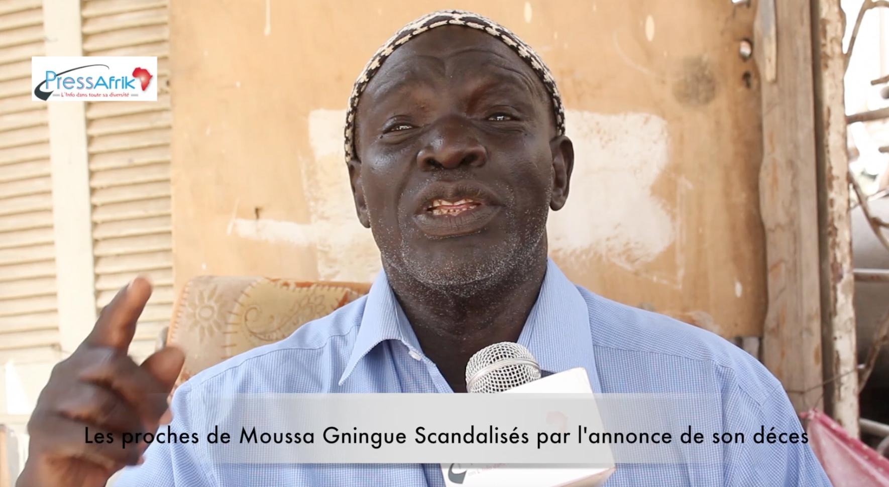 Vidéo - Les proches de Moussa Gningue scandalisés par l'annonce de son décès