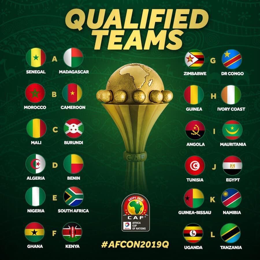 On connaît les 24 équipes qualifiées pour la CAN 2019