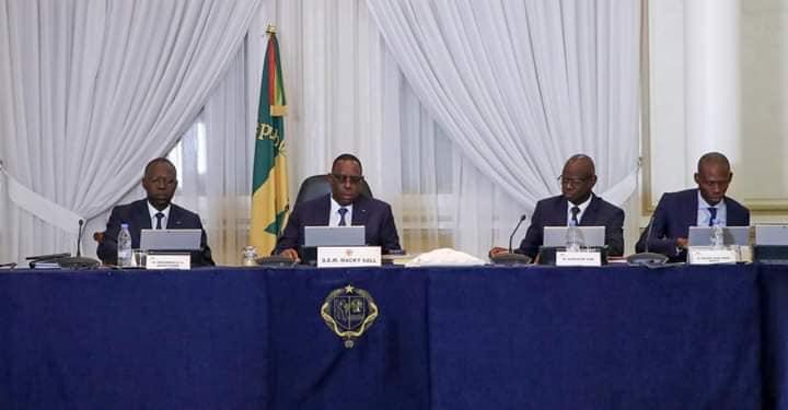 Les premières images du conseil des ministres du gouvernent Macky 2