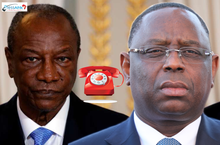 Friture sur la ligne téléphonique Dakar- Conacky : Macky fâche gravement son homologue Alpha Condé
