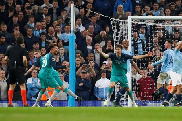 Tottenham sort Manchester City au terme d'un match fou (4-3)