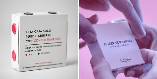 Un «préservatif à consentement» qui s'ouvre uniquement à quatre mains fabriqué