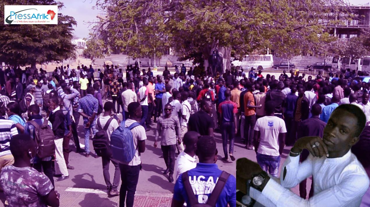 """VIDEO - Les étudiants de l'Ucad menacent: """"si dans 3 mois justice n'est pas rendue, il y aura un autre Fallou Sène"""""""