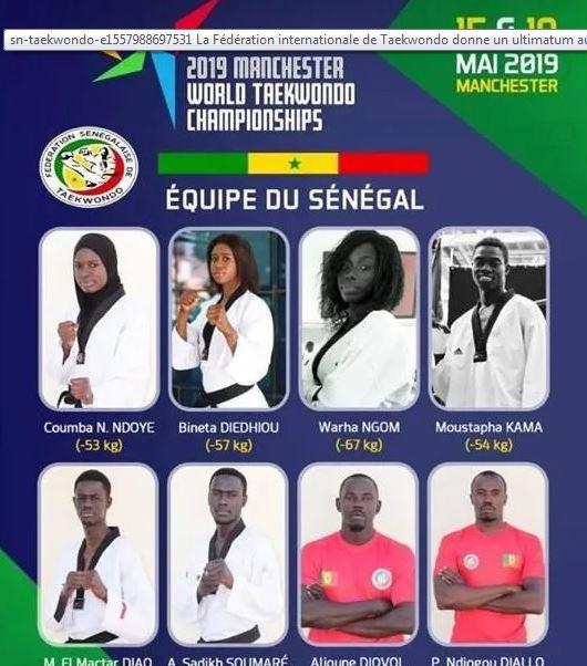 Championnats du monde de Taekwondo: le Sénégal bloqué à Dakar pour des soucis de visas