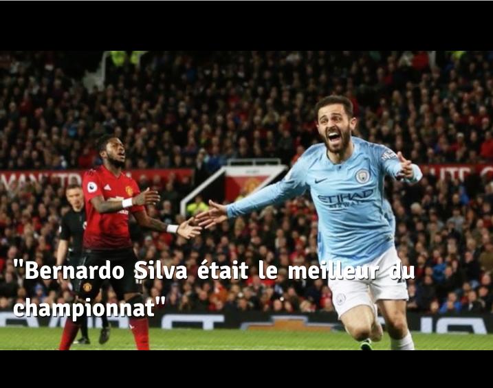 Bernardo Silva élu meilleur joueur de la saison de City