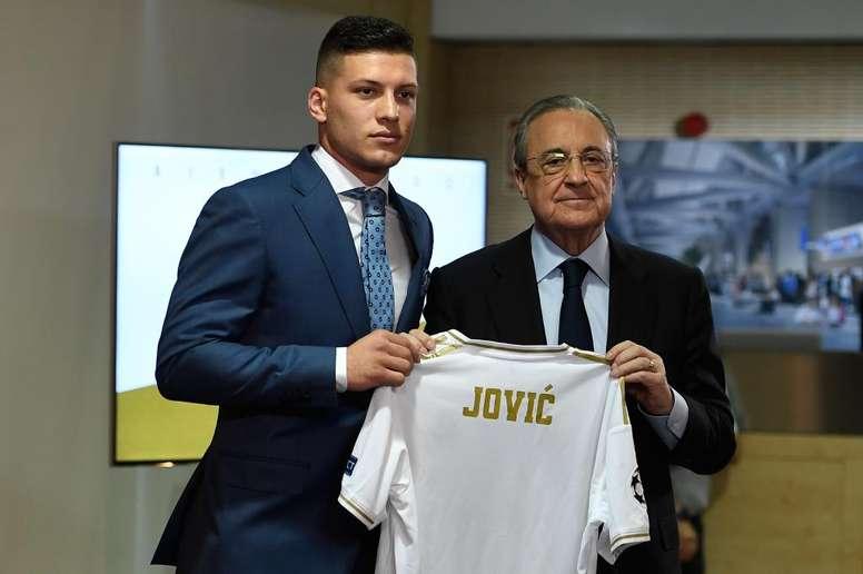 """Luka Jovic """"J'aimerais gagner la Ligue des champions"""""""