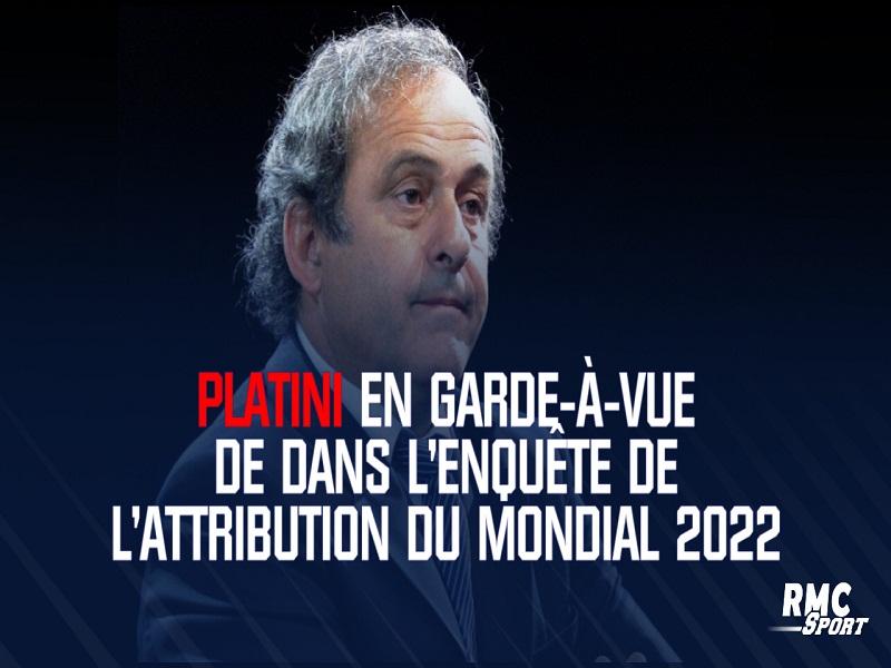 Coupe du monde 2022 : Platini en garde à vue