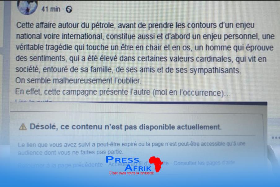 Démission d'Aliou Sall à la tête de la CDC: la lettre publiée via Facebook supprimée