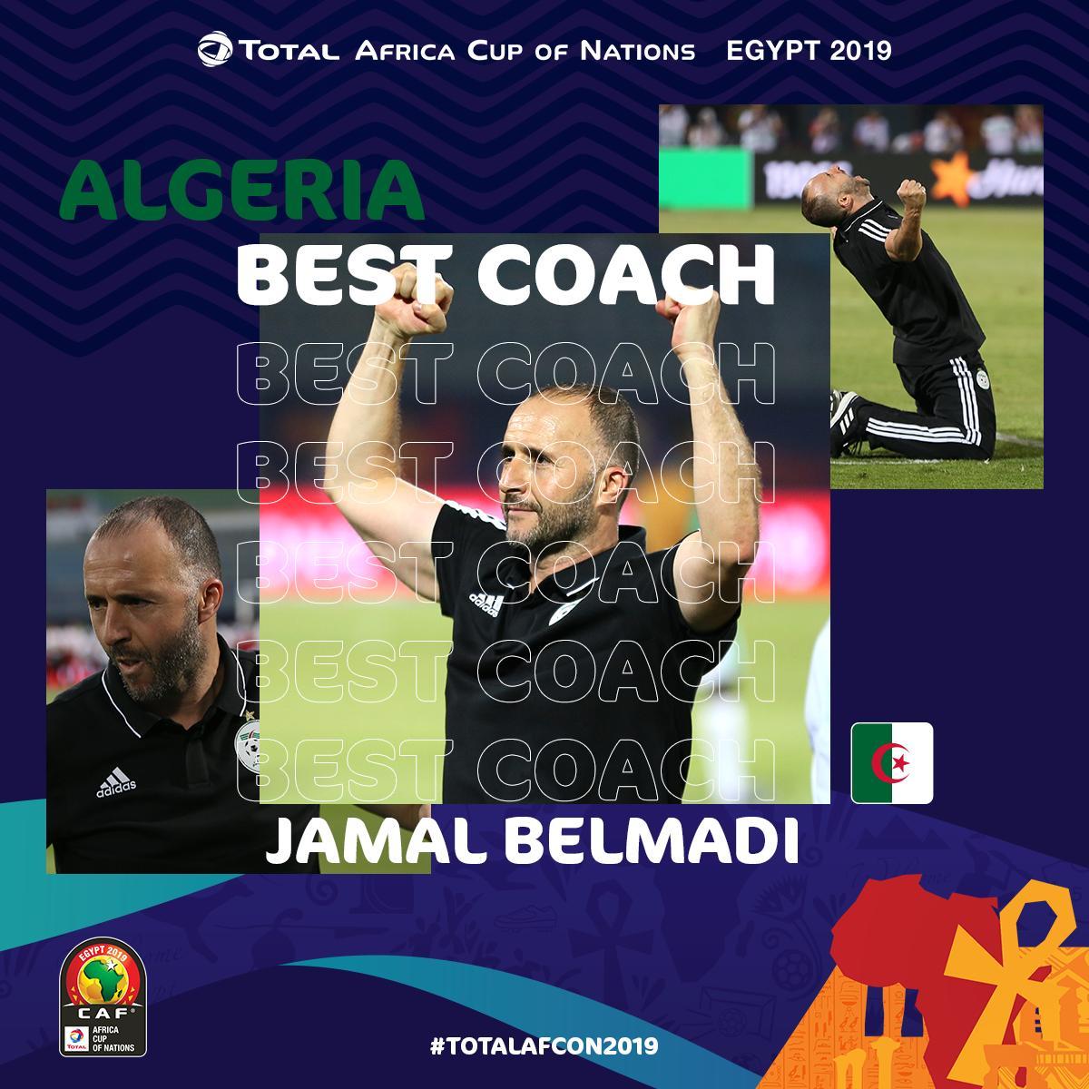 #CAN2019 - Jamel Belmadi remporte le titre meilleur sélectionneur de la phase de poules !