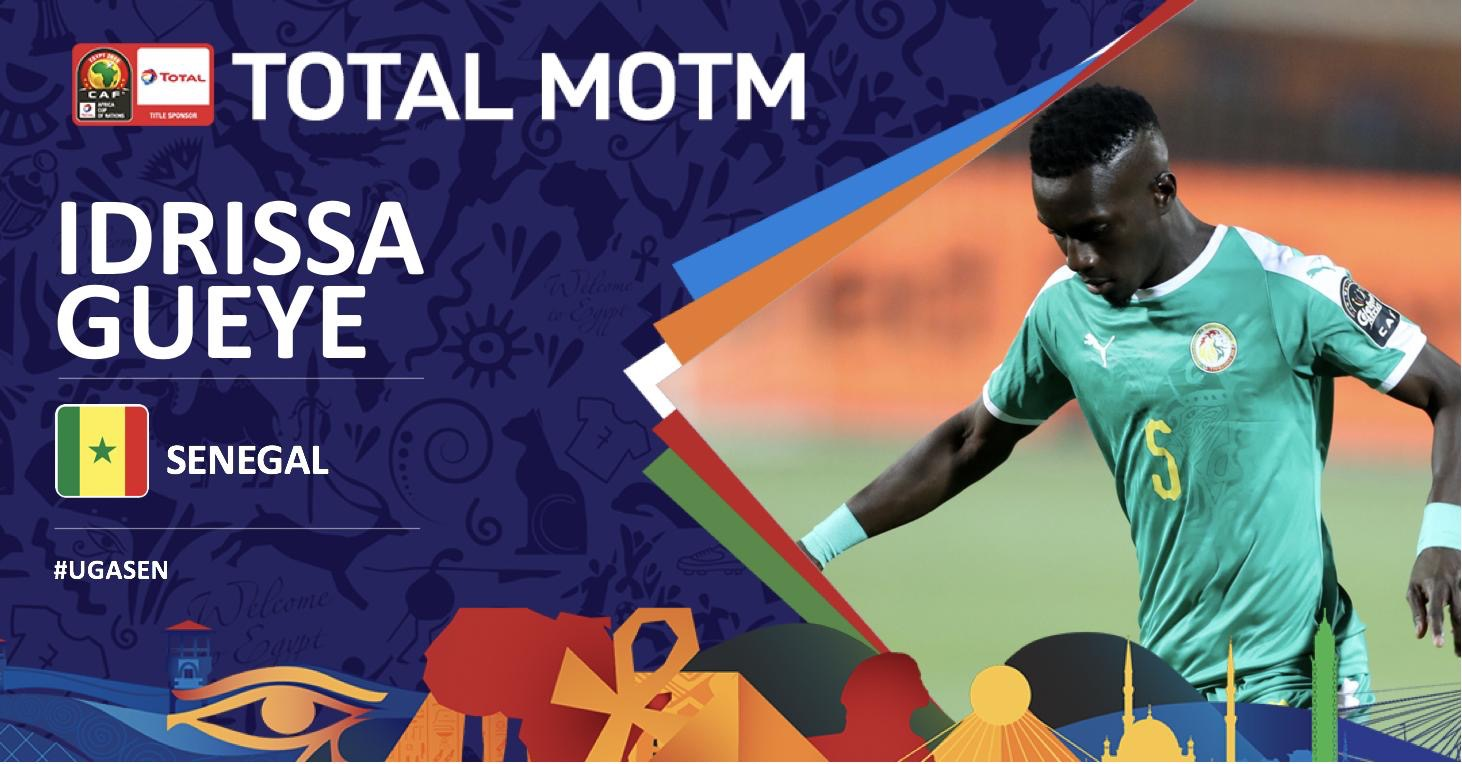 Idrissa Gana GUEYE élu Homme du match Sénégal-Ouganda