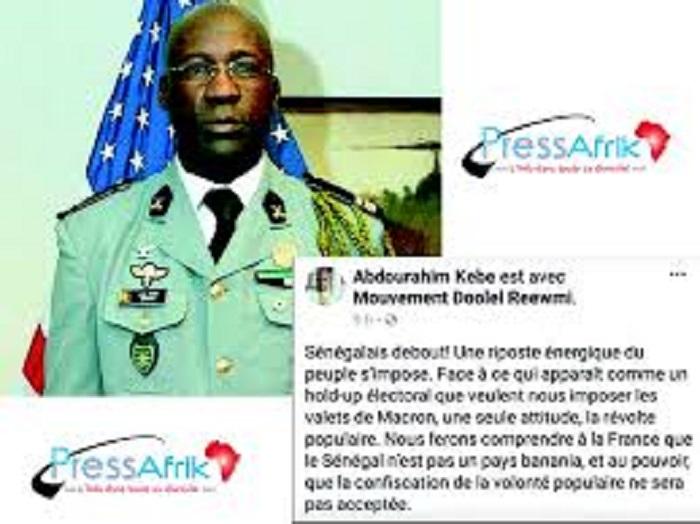 Le colonel Kébé retourne à la Section des recherches le 26 juillet prochain