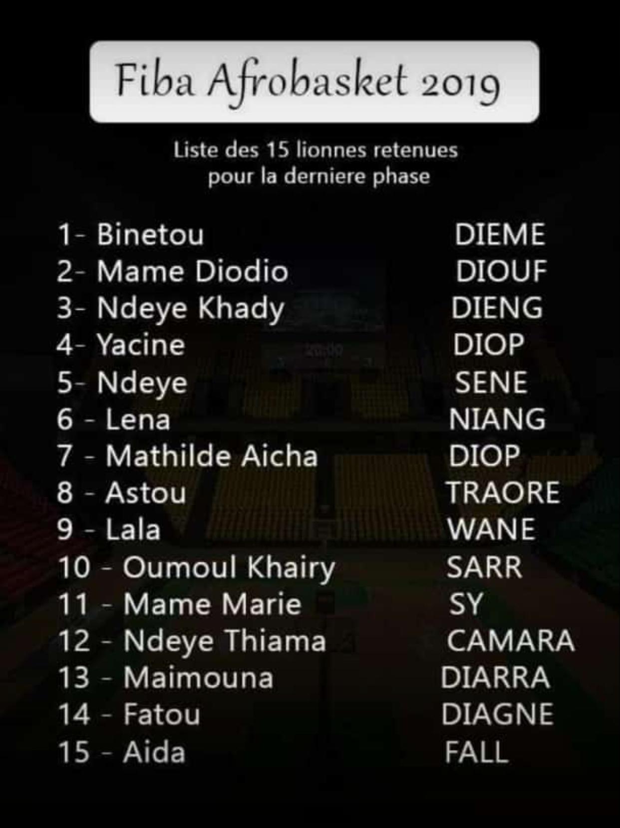 La liste des «Lionnes» pour l'Afrobasket... sans Oumou Khayri Thiam
