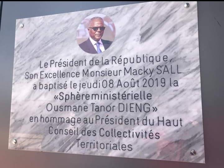 La sphère ministérielle de Diamniado baptisée Ousmane Tanor Dieng