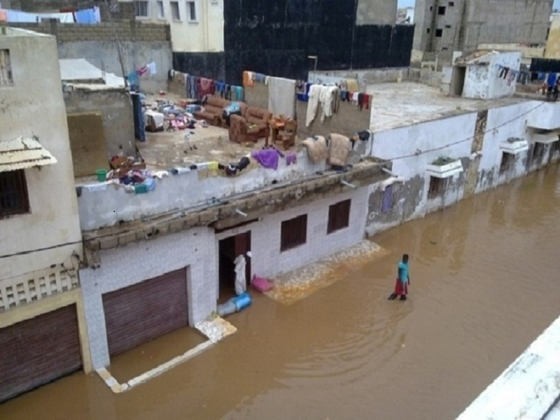 Kaffrine: des maisons sous l'eau et des populations en colère après les fortes pluies