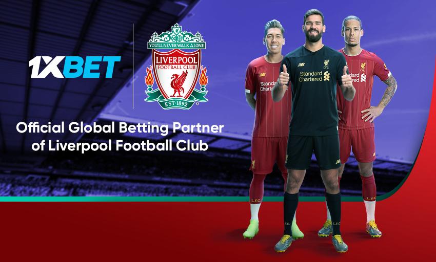 1xBet s'associe avec Liverpool FC
