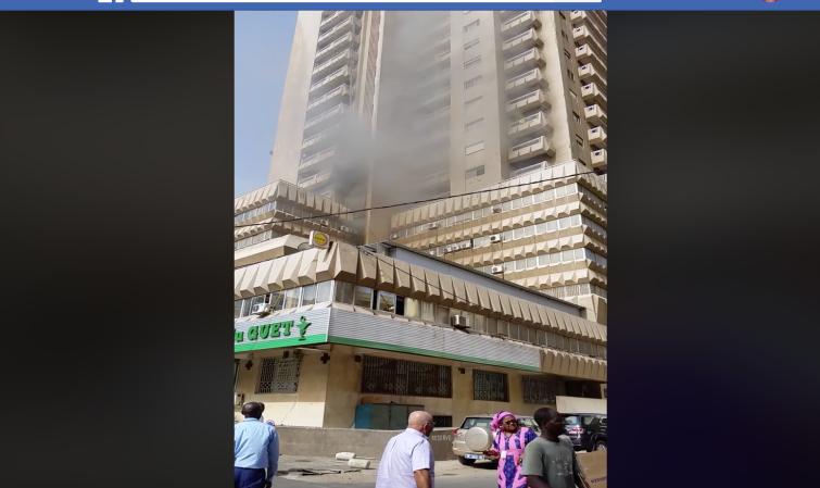 Dernière minute - Un incendie s'est déclaré à l'immeuble Fayçal