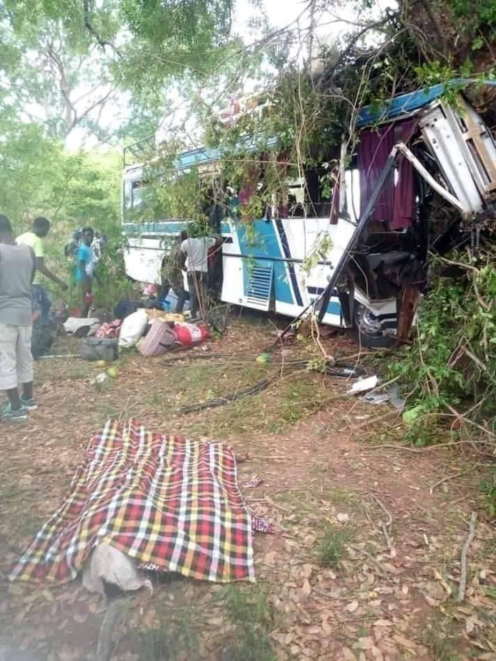 Bignona: un bus termine sa course dans un arbre, fait 8 morts et plusieurs blessés