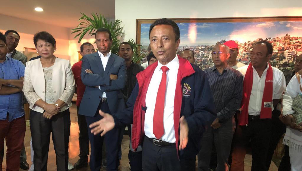 'ex-président de Madagascar Marc Ravalomanana, aujourd'hui dans l'opposition