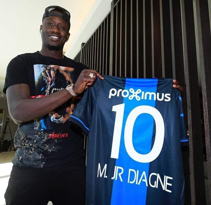 Prêté à Fc Bruges avec option d'achat, Mbaye Diagne arbora le numéro 10