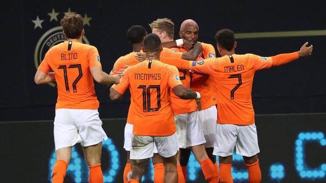 Qualifications Euro 2020: les Pays-Bas corrigent l'Allemagne dans un match fou (4-2)