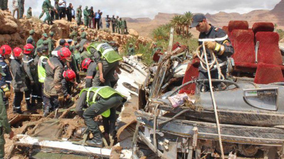 Inondations au Maroc : 17 morts dans l'accident d'un bus emporté par une crue