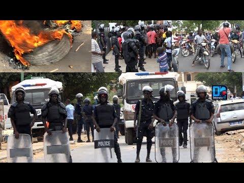 Encore des affrontements entre policiers et conducteurs de moto-Jakarta à Thies