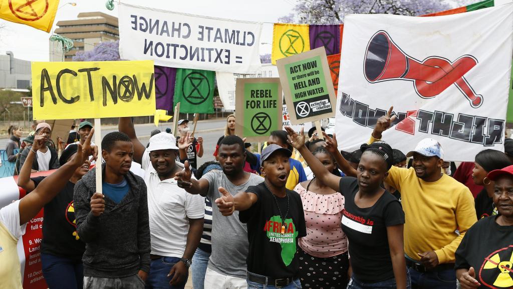 Extinction Rebellion contre le «tout charbon» en Afrique du Sud
