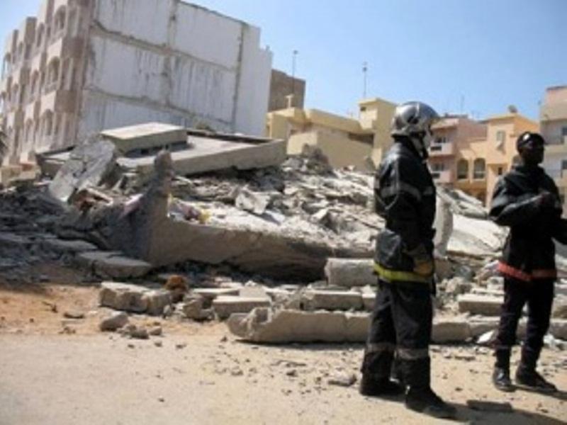 Effondrement d'un bâtiment de 3 étages à Touba