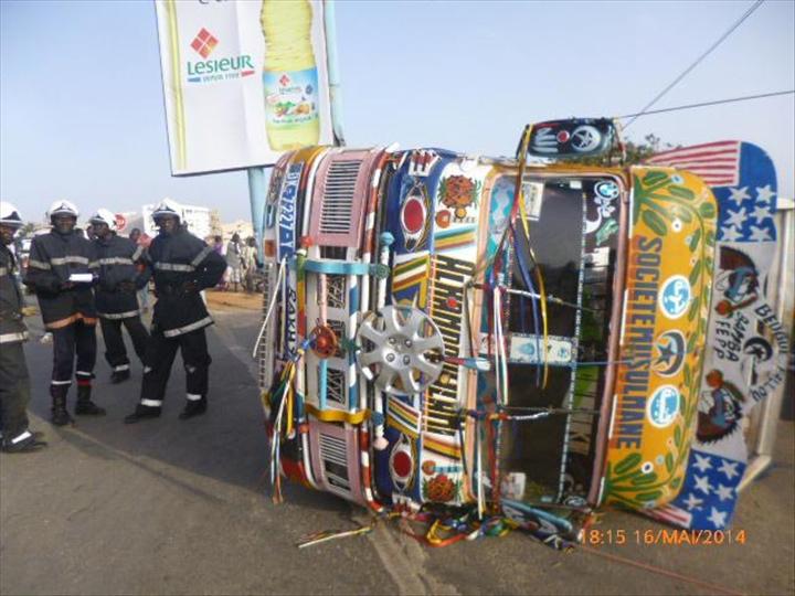 Grand Yoff : un accident fait 8 victimes