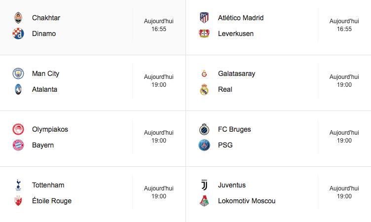 Ligue des champions / voici le programme de la troisième journée