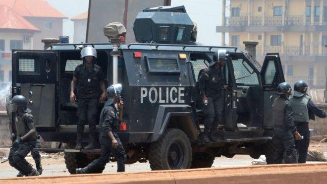 La prison pour des manifestants anti-3ème mandat en Guinée