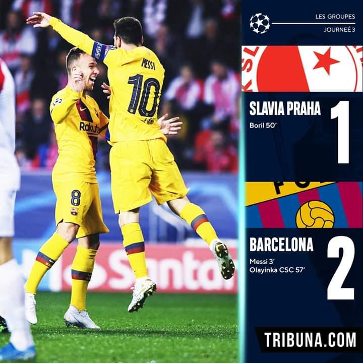 A Prague, le Barça s'impose dans la douleur et Messi fait tomber un nouveau record en ligue des champions