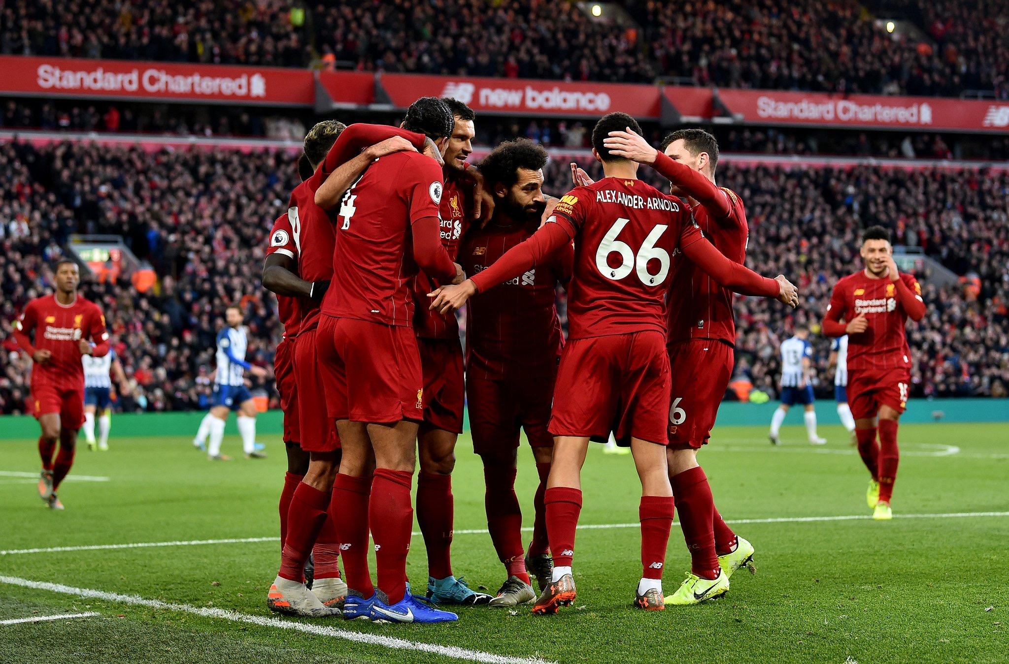 #PremierLeague - Liverpool prend le large en s'imposant contre Brighton (2-1)