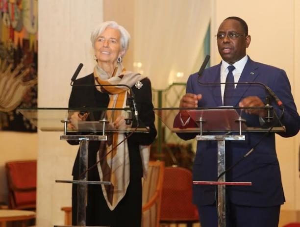 L'ancienne DG du FMI Christine Lagarde et le Président sénégalais Macky Sall