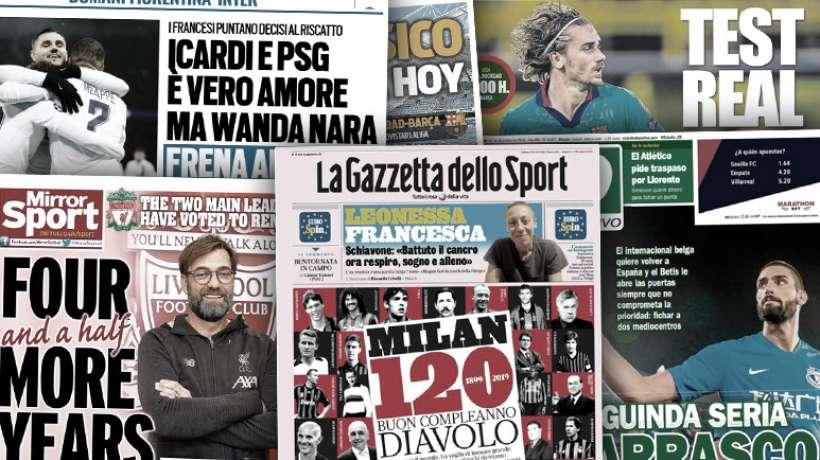 Wanda Nara gâche les plans du PSG pour Icardi, Jürgen Klopp justifie sa prolongation longue durée à Liverpool