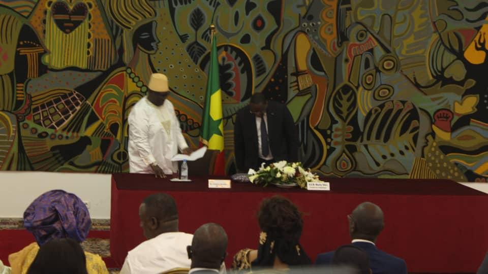 Images-Dialogue politique: Famara Ibrahima Sagna officiellement installé