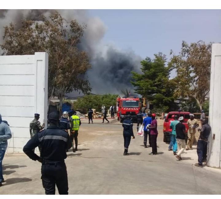 Dakar: Incendie à l'entrepôt de l'intendance des Armées