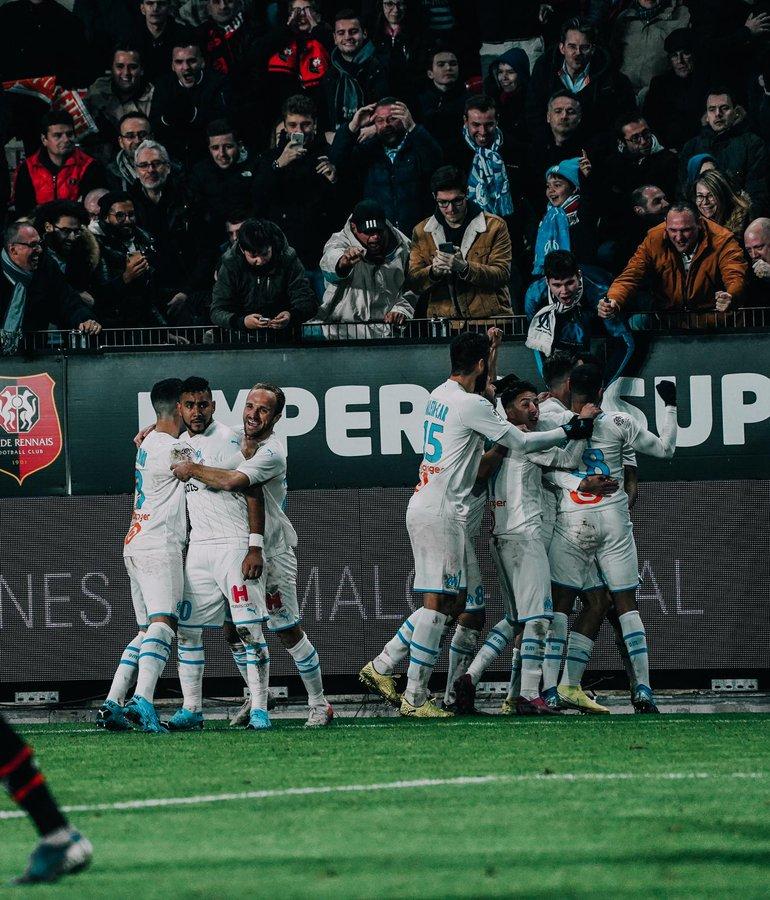 #Ligue1 - L'OM s'impose à Rennes (0-1)