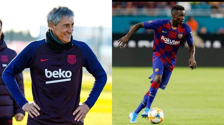 Fc Barcelone: le nouveau coach Quique Setién interpellé sur le cas Moussa Wagué