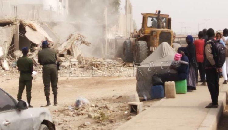 La DSCOS démolit plusieurs extensions à Nord Foire: la boîte de nuit Yeungoulène touché
