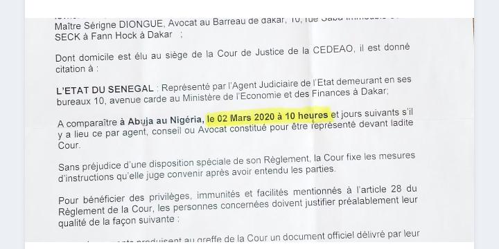 Macky Sall pourrait perdre son fauteuil de Président le 02 mars 2020 devant la Cour de Justice de la Cedeao