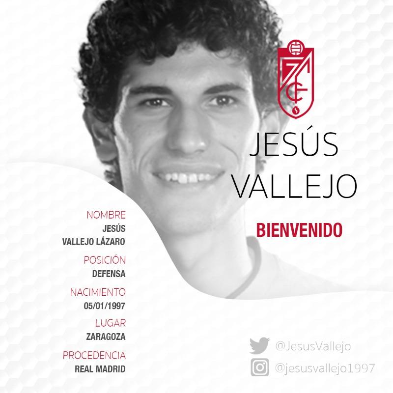 #Mercato - Jesús Vallejo prêté à Grenade FC