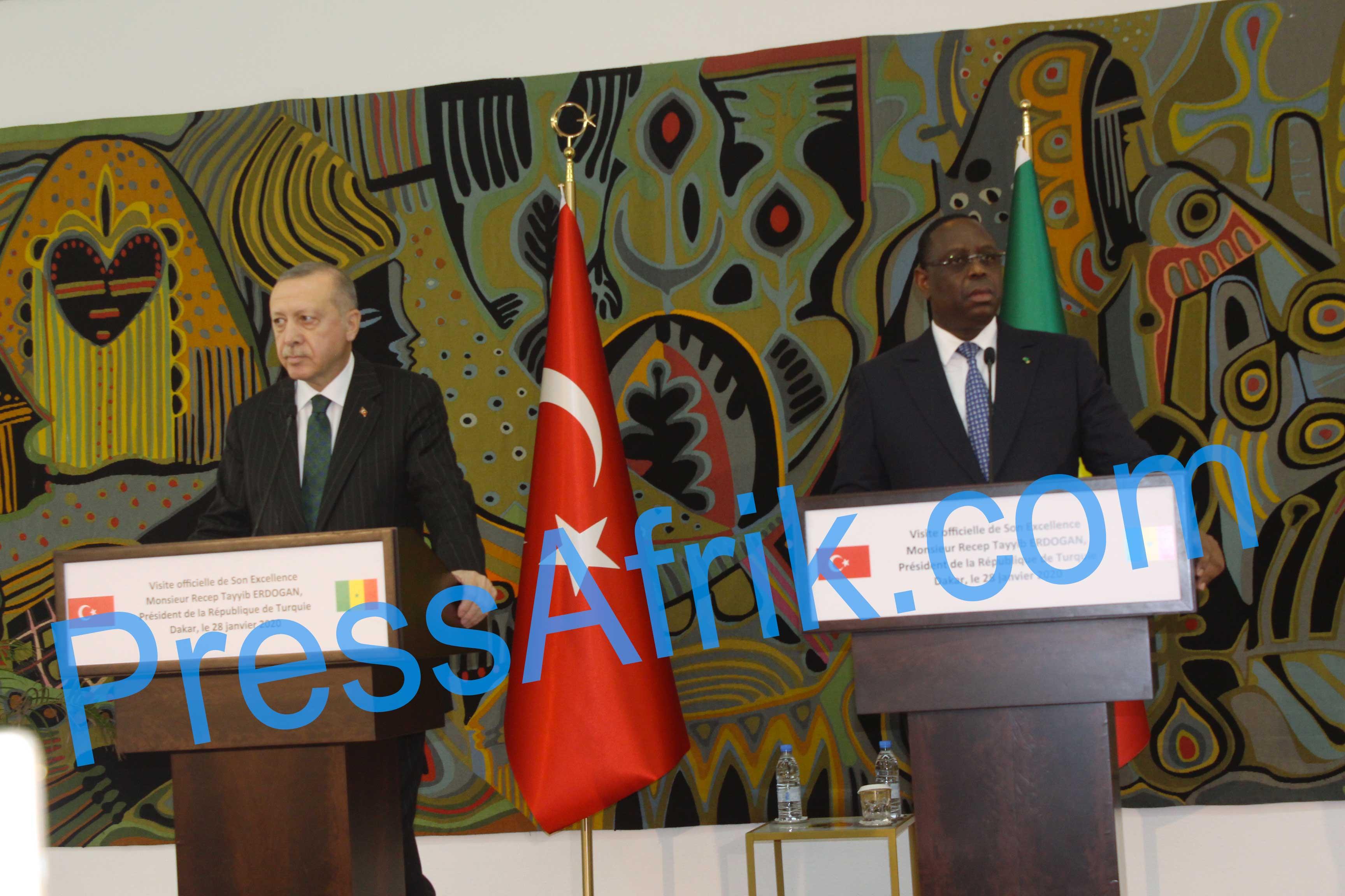 Visite du Président Turc à Dakar : 7 nouveaux accords signés, Recep Tayyip Erdoğan très ambitieux