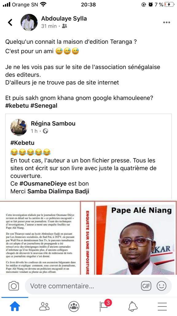 """Livre du """"journaliste Ousmane Dièye"""" sur Pape Alé Niang : La vérité sur """"une véritable imposture médiatique"""""""