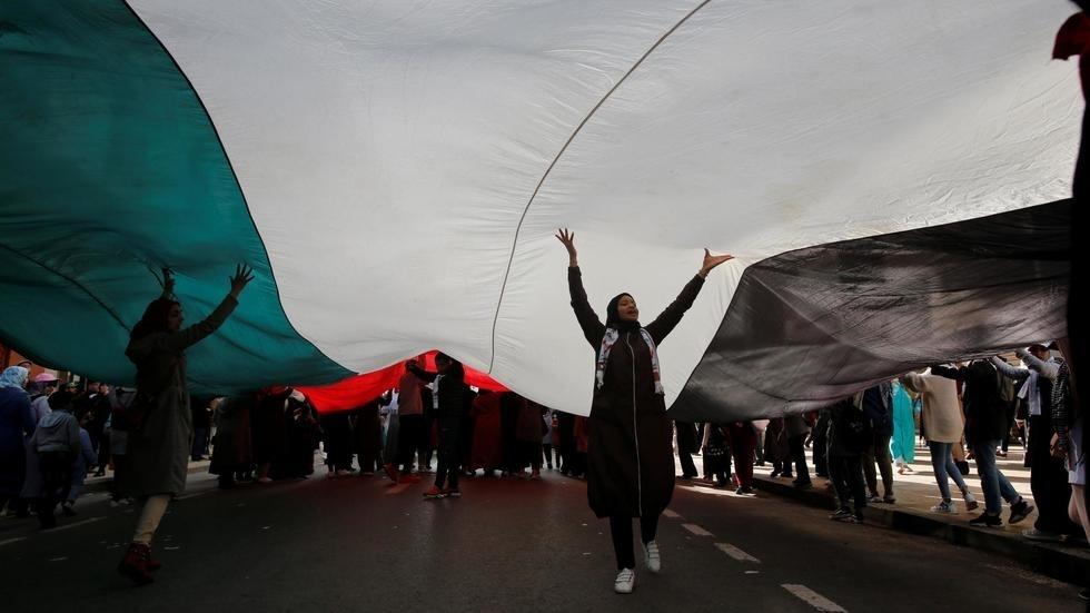 Manifestation au Maroc contre le plan de paix américain pour le Proche-Orient