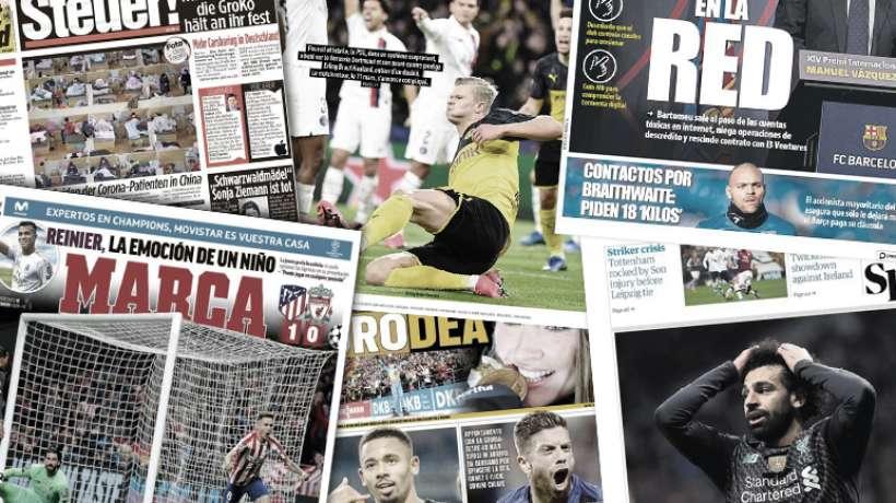 Le phénomène Erling Håland éblouit l'Europe, la presse anglaise impressionnée par l'Atlético de Madrid