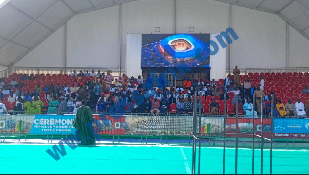 Diamniadio: les images de la cérémonie de pose de la première pierre du Stade du Sénégal