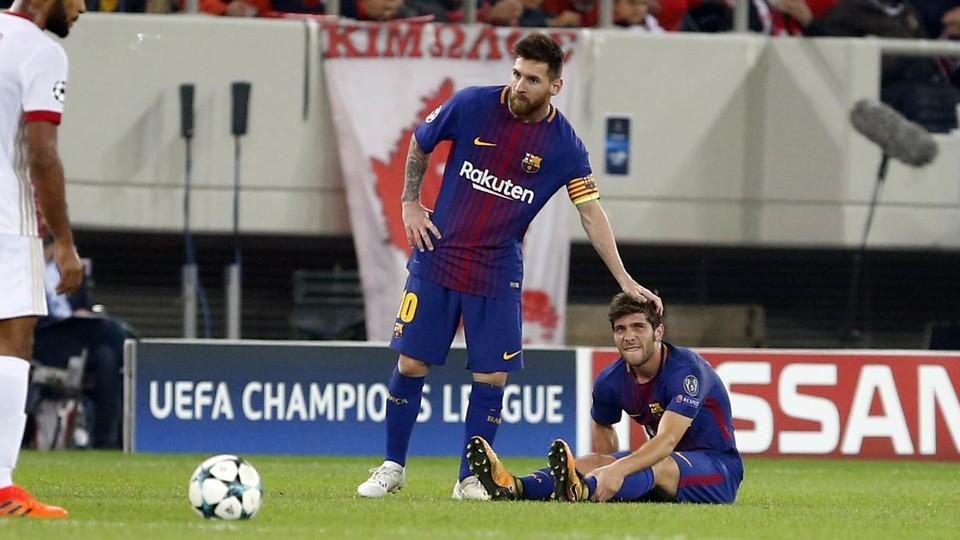 Barça: Sergi Roberto absent entre 3 et 4 semaines