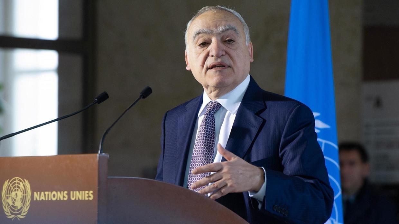 L'émissaire de l'ONU en Libye, Ghassan Salamé (image d'illustration) a rappelé lors d'une conférence de presse vendredi 28 février 2020 les belligérants libyens à leur engagements. AFP